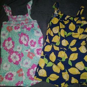 Lot of 2 Rompers |lemons| Floral|children's place